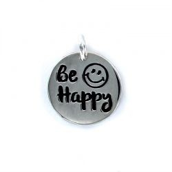 Colgante Plata ¨Be Happy¨