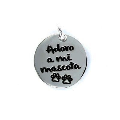 "Colgante ""Adoro a mi mascota""Plata my life"