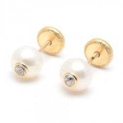 Pendientes Perlas Oro 18K
