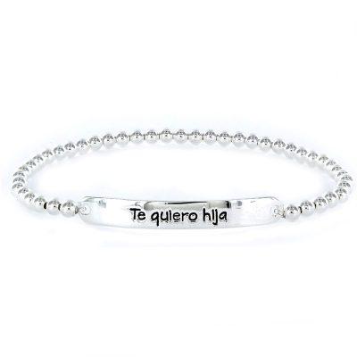 "Pulsera Plata Happy ""Te quiero hija"""