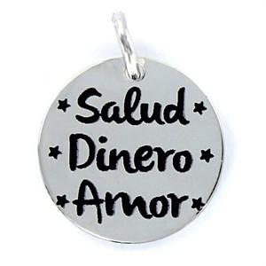 """Colgante """"Salud, dinero y amor"""" My life"""