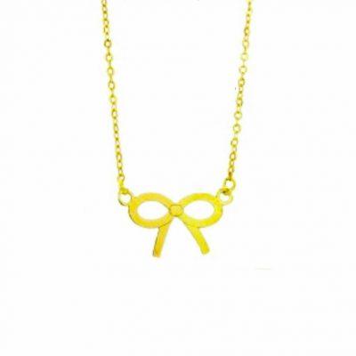 Gargantilla Lazo en oro amarillo 18K