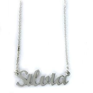 Colgante My Name Silvia Plata