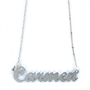 Colgante My Name Carmen Plata
