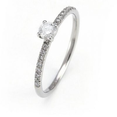 Anillo Classic Oro Blanco Diamante 0,28ct
