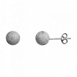 Pendientes Bola Diamantada Plata
