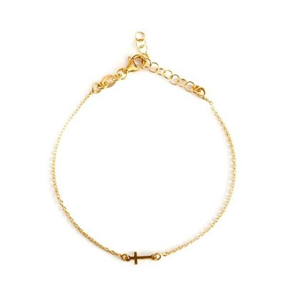 Pulsera Mini Cross Oro