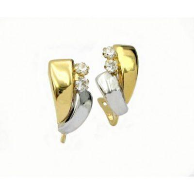 Pendientes Bicolor Oro 18K