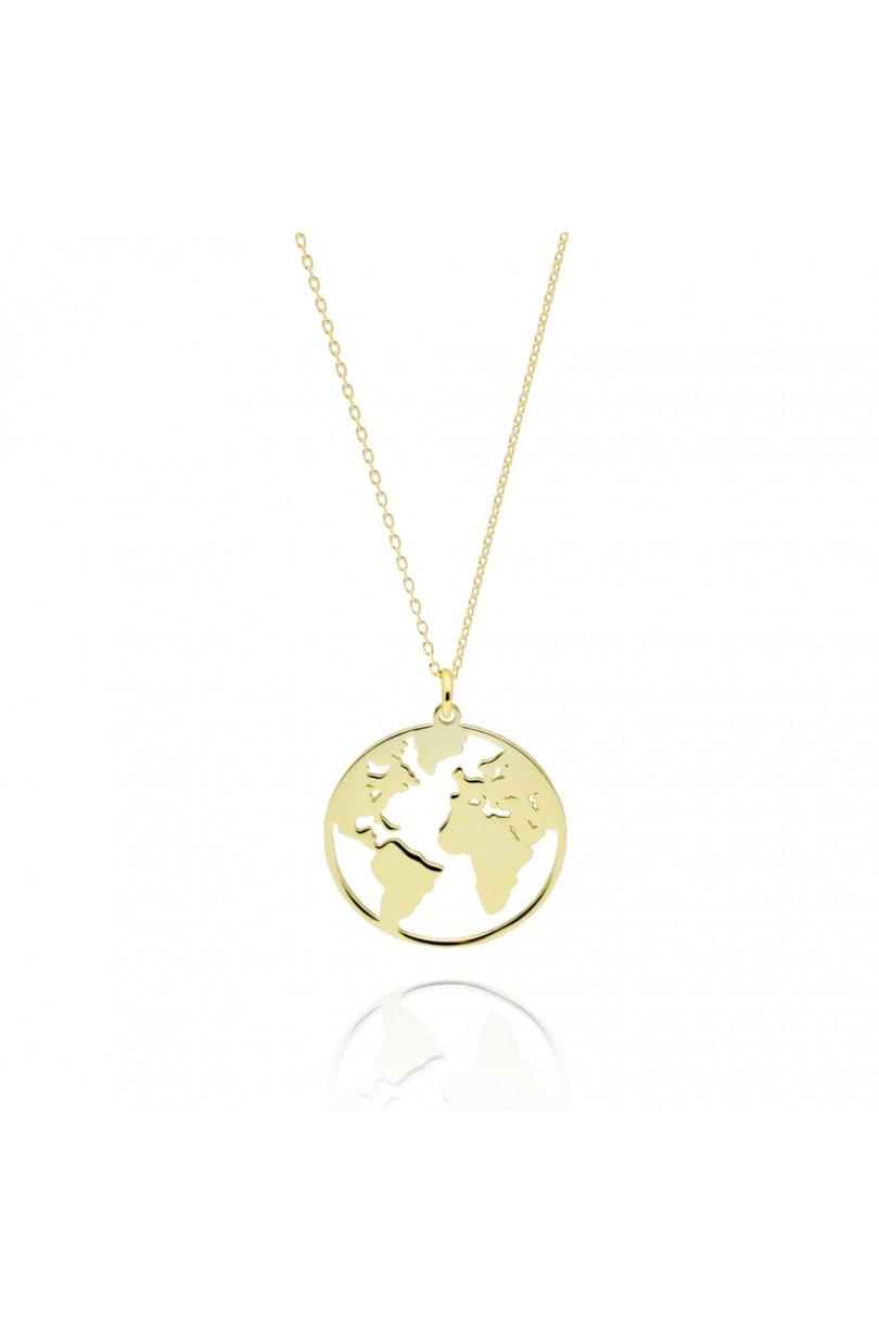 último clasificado rico y magnífico precio oficial Collar Mundo Grande Oro