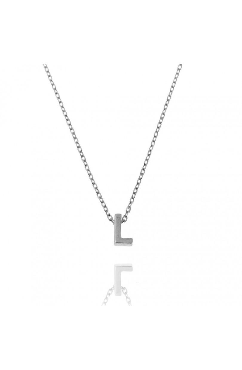 76b28bdba991 Collar Letra L Plata