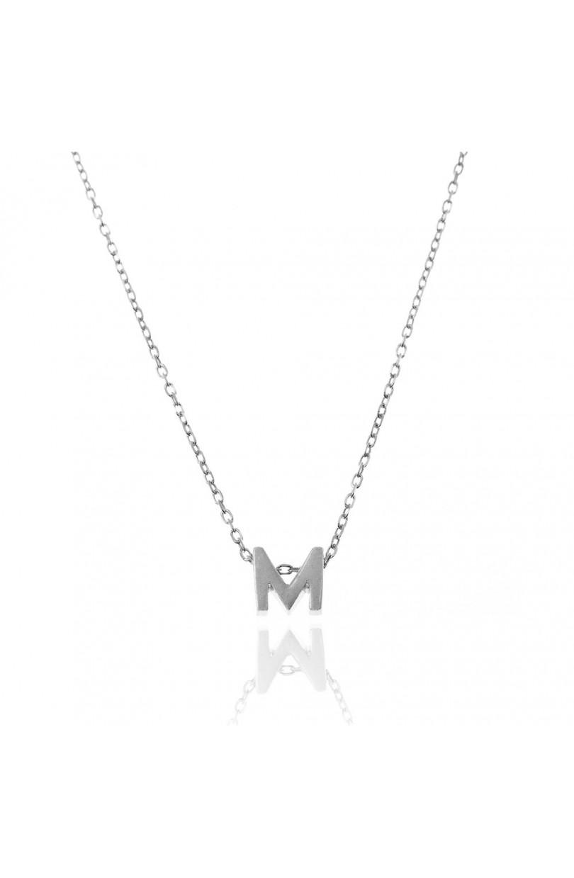 91e438361de8 Collar Letra M Plata