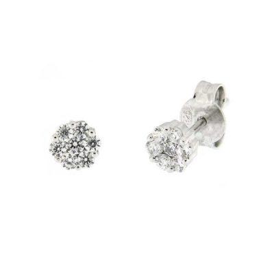 5c3c065cd27f Pendientes Rosetón Diamantes 0