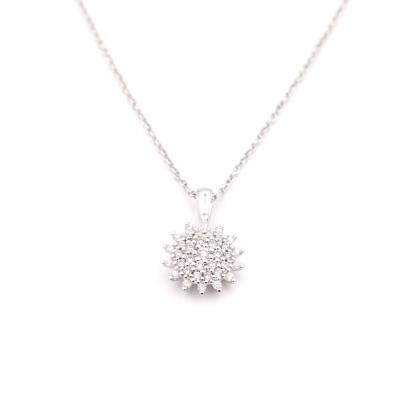 1dd270b9897b collar roseton diamantes | Joyeria Luis Luna