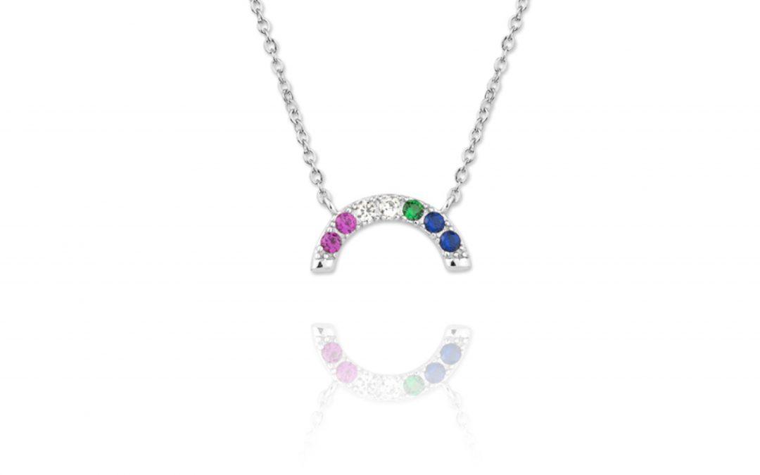 Collar Rainbow Plata