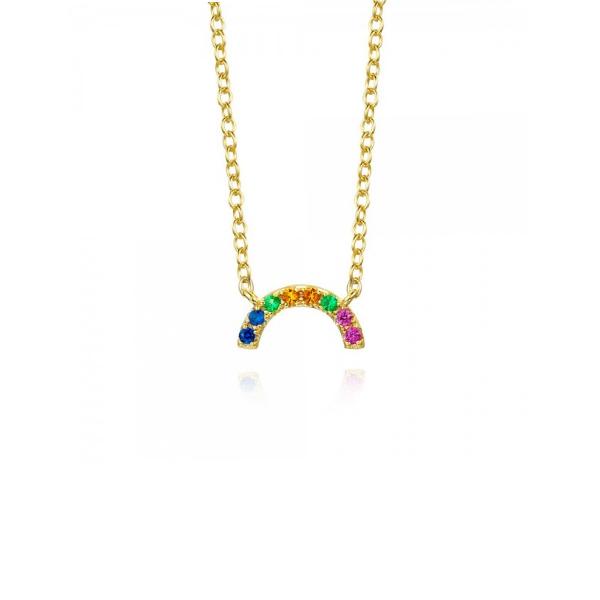 Collar Little Rainbow Plata Dorada