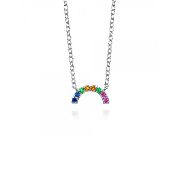 Collar Little Rainbow Plata